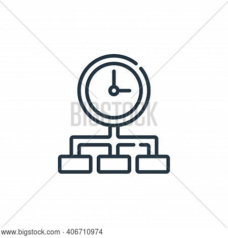 time management icon isolated on white background from calendar and date collection. time management