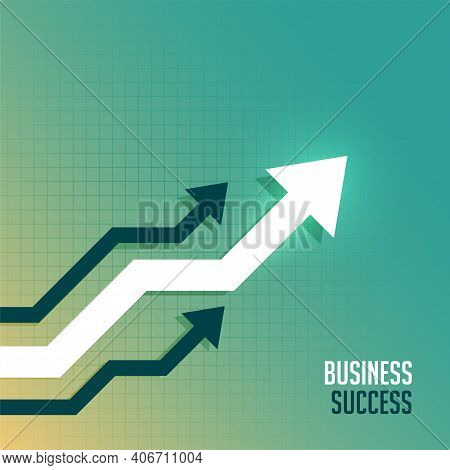 Leading Business Arrow Toward Upward Side Background