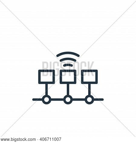 timeline icon isolated on white background from internet of things collection. timeline icon thin li