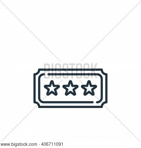 ticket icon isolated on white background from fame collection. ticket icon thin line outline linear