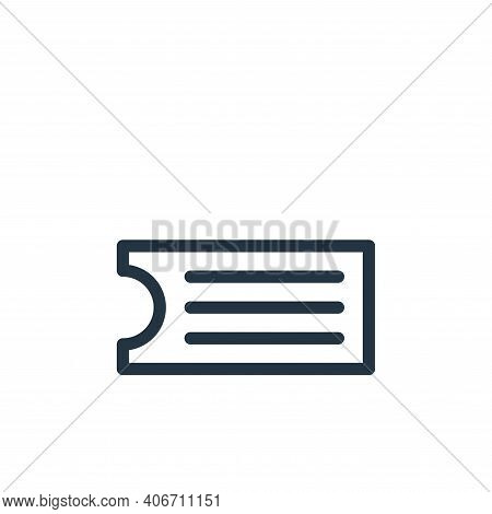 ticket icon isolated on white background from holiday collection. ticket icon thin line outline line