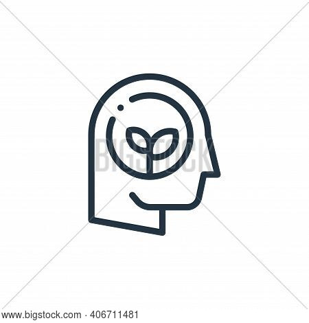 think icon isolated on white background from ecology collection. think icon thin line outline linear