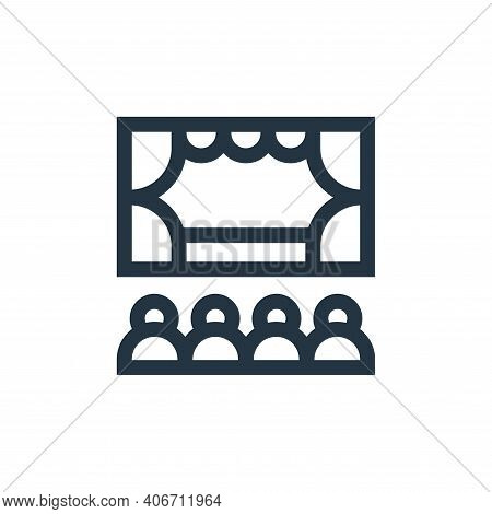 theater icon isolated on white background from hobbies collection. theater icon thin line outline li