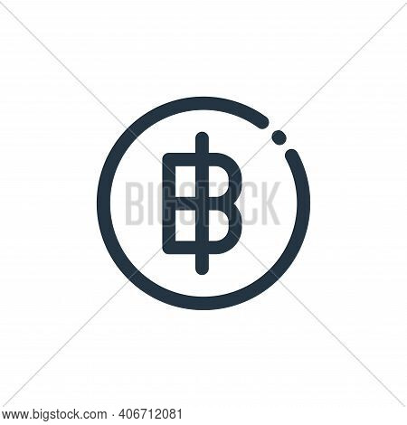 thai baht icon isolated on white background from currency collection. thai baht icon thin line outli