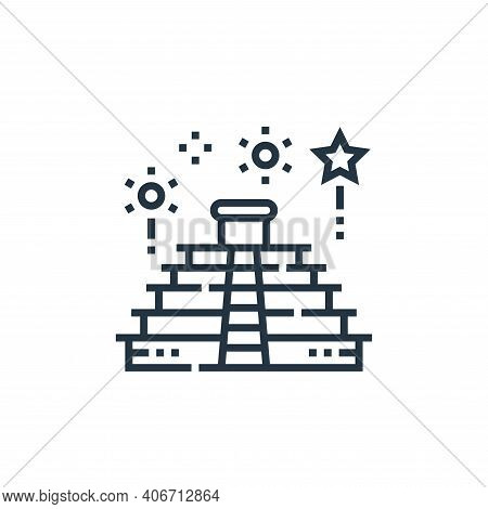 teotihuacan icon isolated on white background from cinco de mayo collection. teotihuacan icon thin l