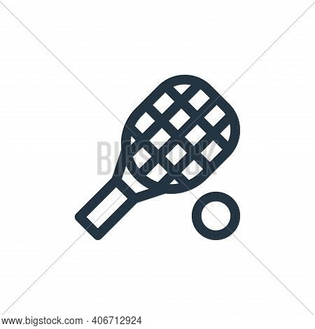 tennis racket icon isolated on white background from england collection. tennis racket icon thin lin