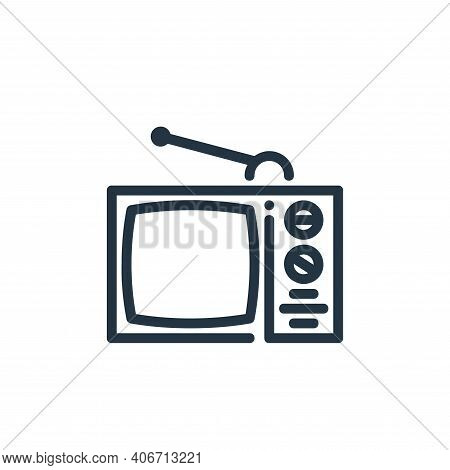 television icon isolated on white background from ricon collection. television icon thin line outlin