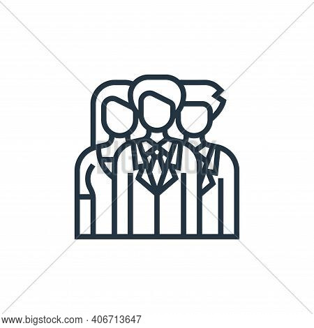 teamwork icon isolated on white background from digital transformation collection. teamwork icon thi