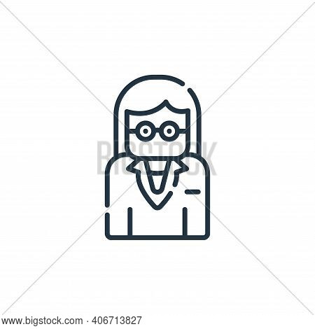 teacher icon isolated on white background from academy collection. teacher icon thin line outline li