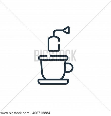 tea icon isolated on white background from free time collection. tea icon thin line outline linear t