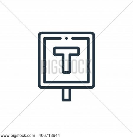 taxi stop icon isolated on white background from taxi service collection. taxi stop icon thin line o