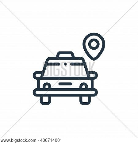 taxi icon isolated on white background from taxi service collection. taxi icon thin line outline lin