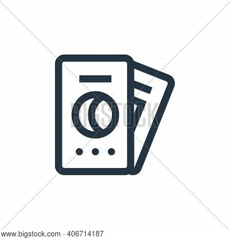 tarot icon isolated on white background from magic collection. tarot icon thin line outline linear t