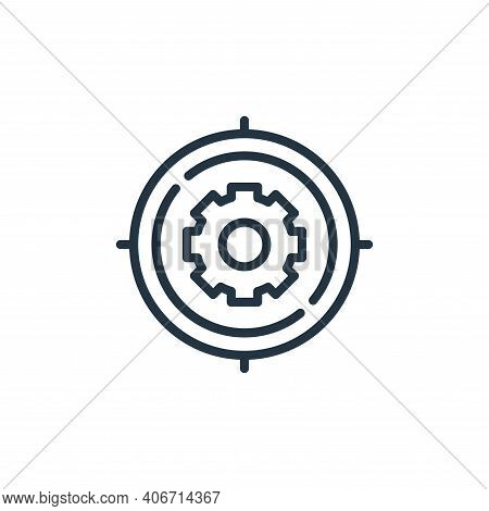 target icon isolated on white background from engineering collection. target icon thin line outline