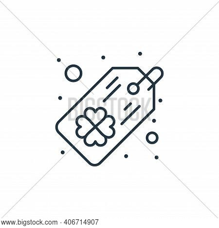 tag icon isolated on white background from saint patrick collection. tag icon thin line outline line