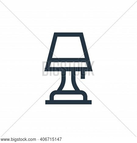table lamp icon isolated on white background from electrician tools and elements collection. table l