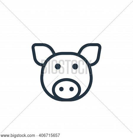 swine icon isolated on white background from coronavirus collection. swine icon thin line outline li