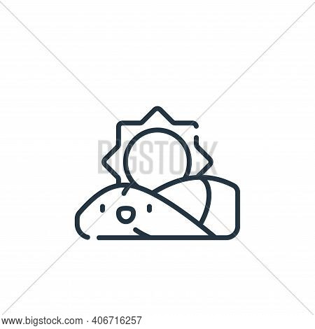 sunrise icon isolated on white background from ramadan collection. sunrise icon thin line outline li