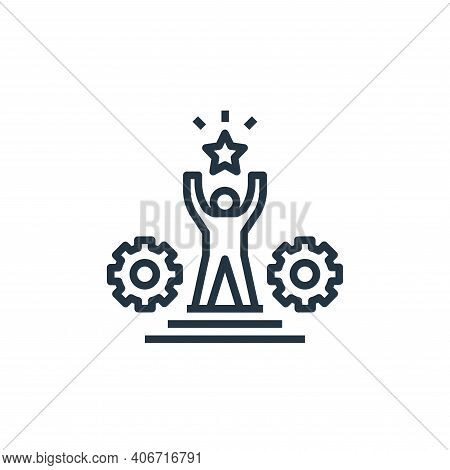 success icon isolated on white background from work life balance collection. success icon thin line