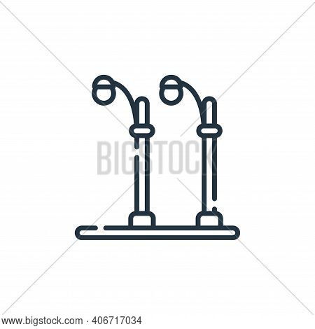 street lamp icon isolated on white background from electrician tools and elements collection. street