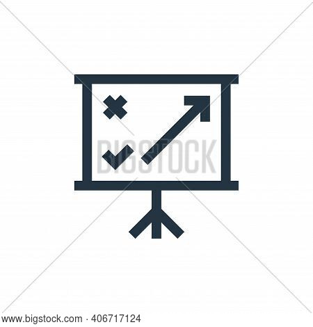 strategy icon isolated on white background from marketing and growth collection. strategy icon thin