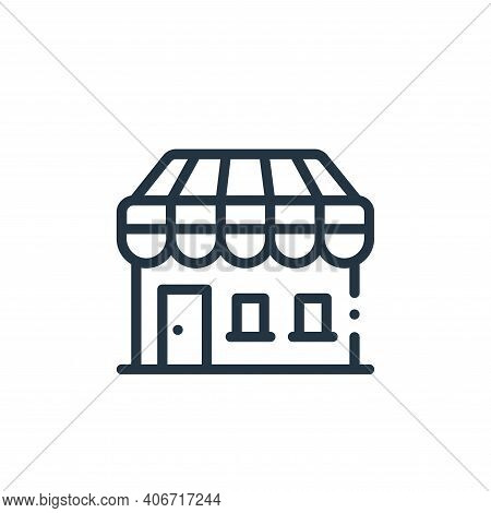 store icon isolated on white background from in the village collection. store icon thin line outline