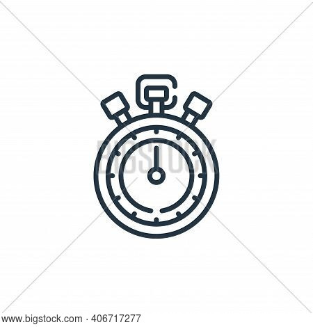 stopwatch icon isolated on white background from baseball collection. stopwatch icon thin line outli
