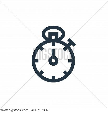 stopwatch icon isolated on white background from management collection. stopwatch icon thin line out