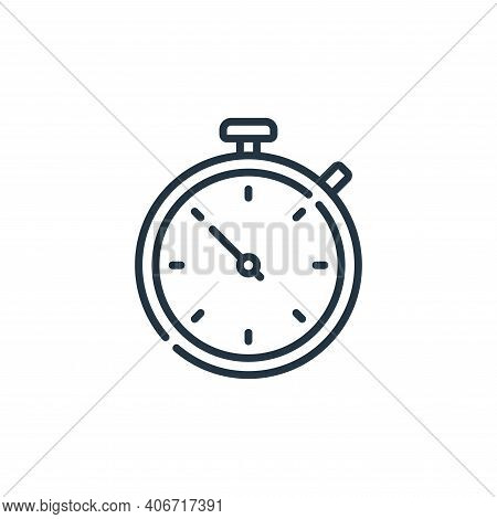 stopwatch icon isolated on white background from calendar and date collection. stopwatch icon thin l