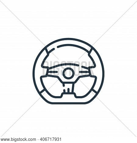 steering wheel icon isolated on white background from auto racing collection. steering wheel icon th