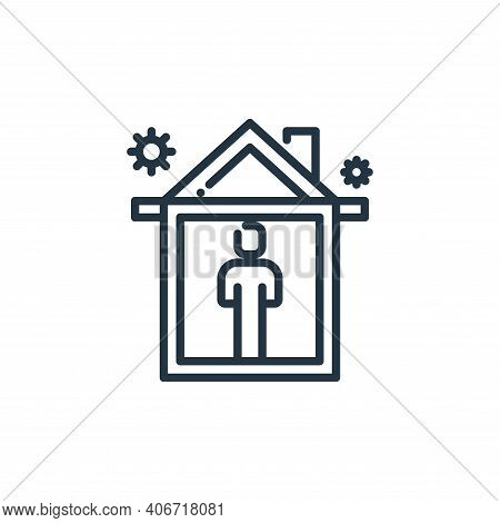 stay at home icon isolated on white background from virus transmission collection. stay at home icon