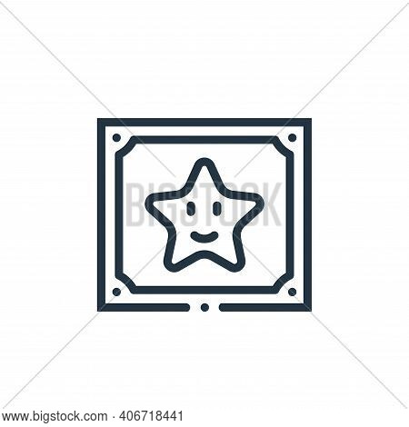 star icon isolated on white background from videogame elements collection. star icon thin line outli