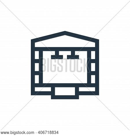 stage icon isolated on white background from rock and roll collection. stage icon thin line outline