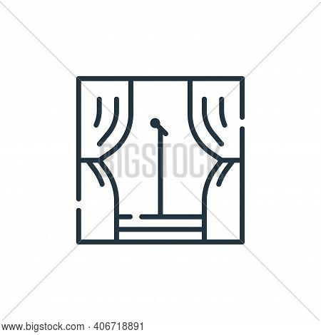 stage icon isolated on white background from fame collection. stage icon thin line outline linear st