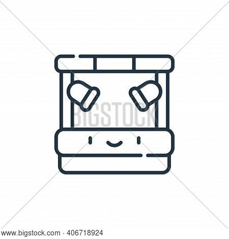 stage icon isolated on white background from reggae collection. stage icon thin line outline linear
