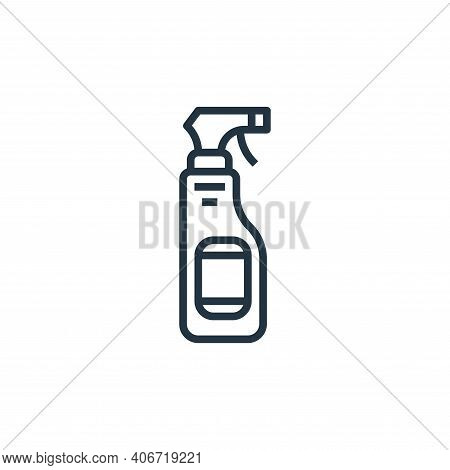 spray bottle icon isolated on white background from laundry collection. spray bottle icon thin line