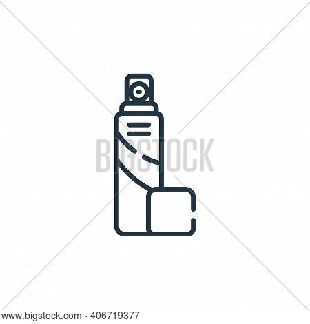 spray icon isolated on white background from bathroom collection. spray icon thin line outline linea