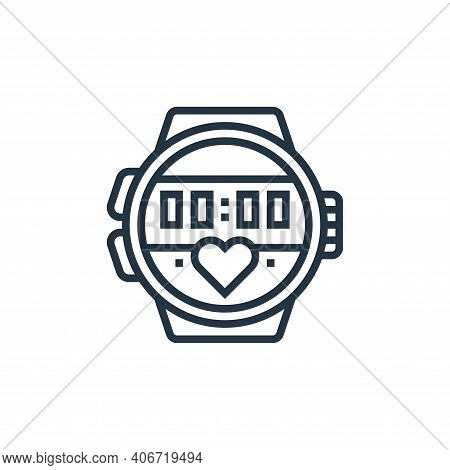 sport watch icon isolated on white background from fitness collection. sport watch icon thin line ou