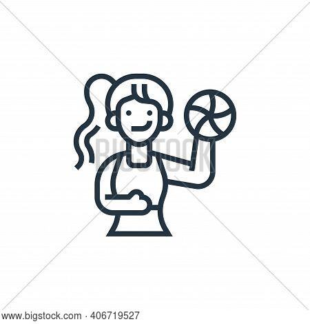 sportswoman icon isolated on white background from fitness collection. sportswoman icon thin line ou