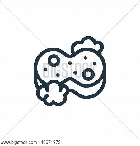 sponge icon isolated on white background from personal hygiene collection. sponge icon thin line out