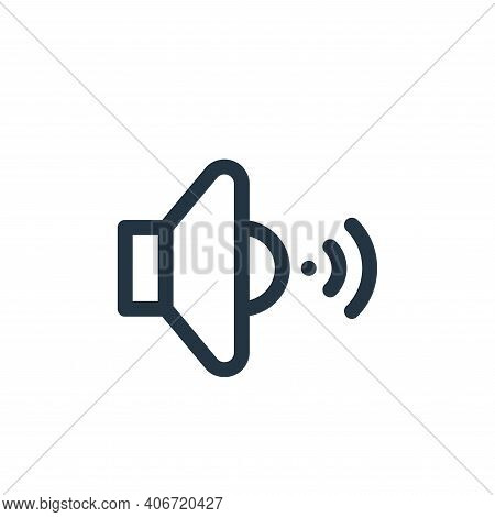speaker icon isolated on white background from internet of things collection. speaker icon thin line