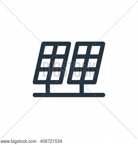 solar panels icon isolated on white background from climate change collection. solar panels icon thi