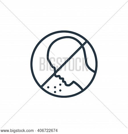 sneeze icon isolated on white background from stop virus collection. sneeze icon thin line outline l