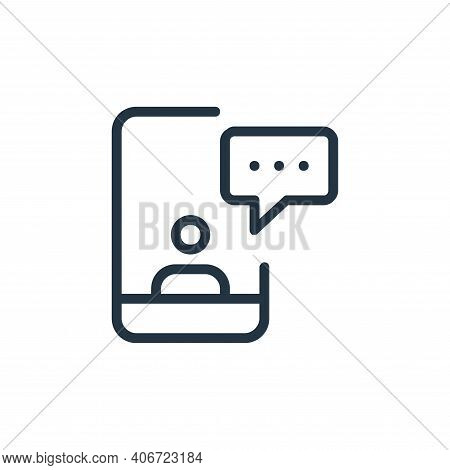 smartphone icon isolated on white background from work office and meeting collection. smartphone ico