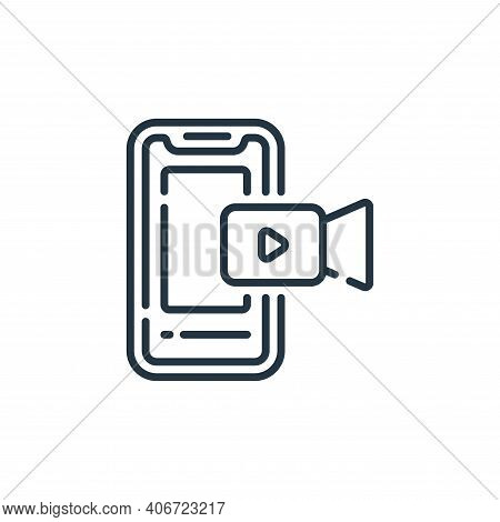 smartphone icon isolated on white background from social media collection. smartphone icon thin line