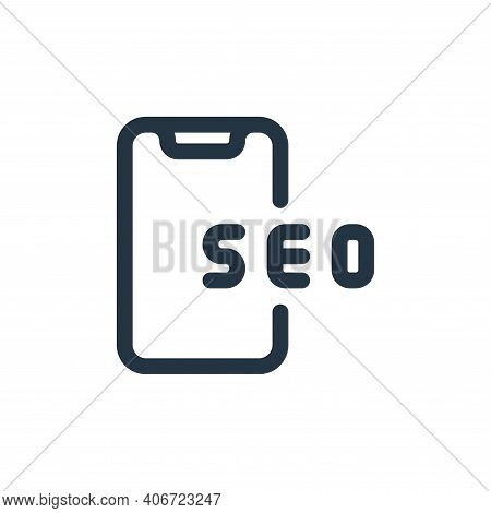 smartphone icon isolated on white background from web apps seo collection. smartphone icon thin line