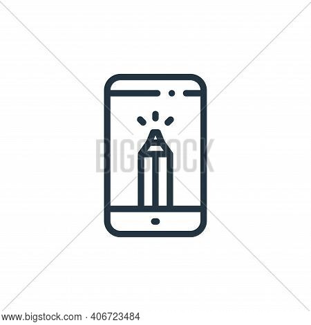 smartphone icon isolated on white background from design thinking collection. smartphone icon thin l
