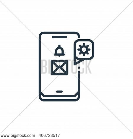 smartphone icon isolated on white background from virus transmission collection. smartphone icon thi