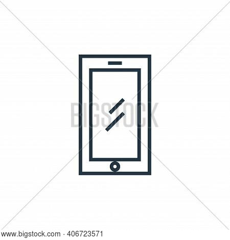 smartphone icon isolated on white background from school collection. smartphone icon thin line outli
