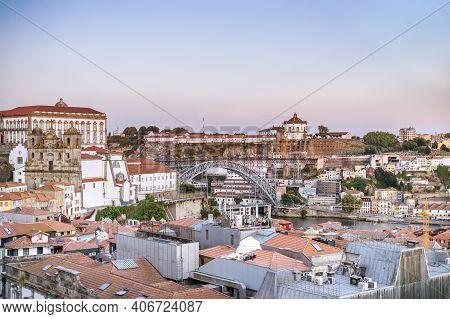Cityscape Of Beautiful Porto And Vila Nova De Gaia, Portugal